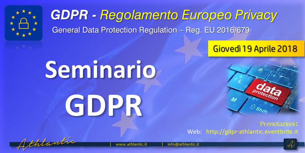 Seminario GDPR :: Regolamento Europeo Privacy